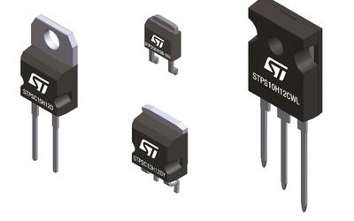 STMicroelectronics 1200 V silicon-carbide diodes