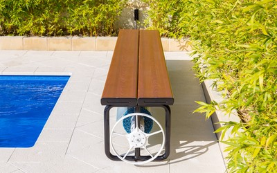 Daisy UBR (Under Bench Roller) pool cover storage