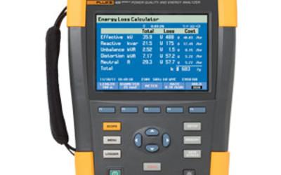 Fluke 435 three-phase power quality and energy analyser