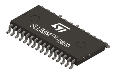STMicroelectronics SLLIMM-nano series surface-mount intelligent power modules (IPMs)