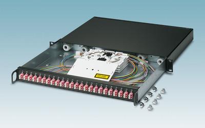 Phoenix Contact 19″ fibre-optic splice boxes