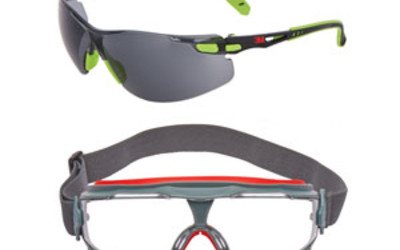3M Solus 1000 and Goggle Gear 500 Splash goggle safety eyewear