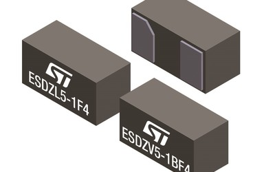 STMicroelectronics ESDZL5-1F4 and ESDZV5-1BF4 ESD-clamping diodes