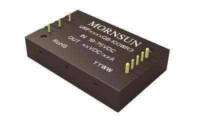MORNSUN URF48xxQB-100WR3 18–75 V ultrawide input voltage DC/DC converter