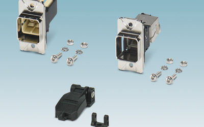 Phoenix Contact panel mounting frames for RJ45 and SC-RJ