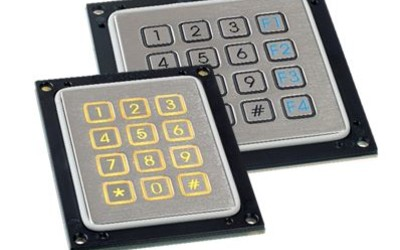 APEM PQ series stainless steel keypads