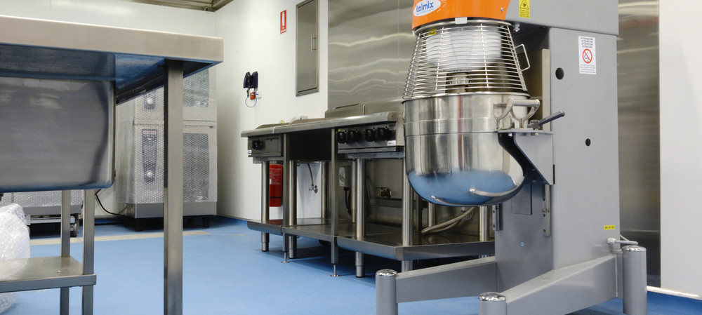 Behind the seams of hospital kitchen floors