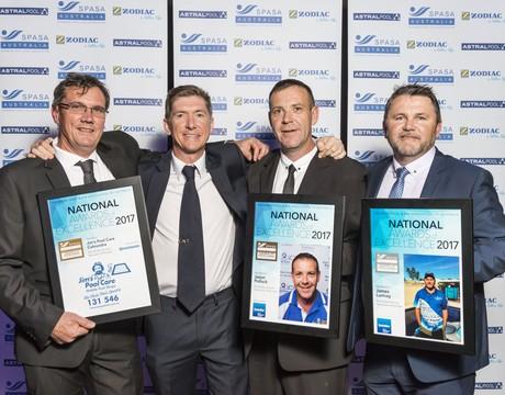 Jims pool care national award winners with brettblair
