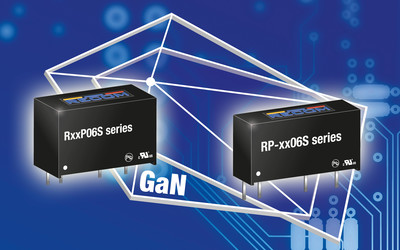 RECOM RP-xx06S and RxxP06S DC/DC converters for fast-switching GaN drivers