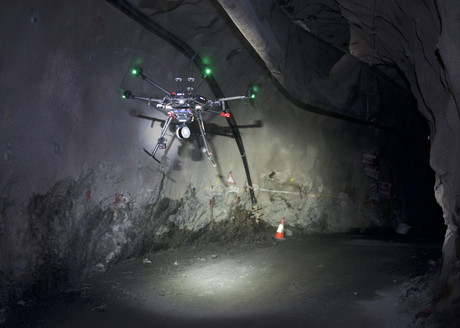 Drone flying autonomously underground using hovermap payload