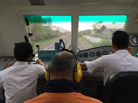 View from inside the instrumented vehicle credit pt kai