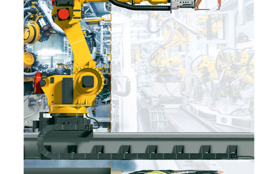 7th axis e-chain cables for Fanuc robots