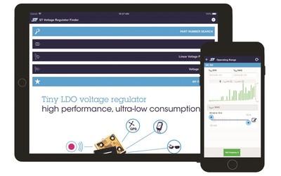 ST Voltage Regulator Finder app