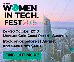 Women in tech. fest banner 300 x 250