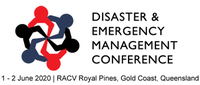 Disaster and emergency management conference logo 2020