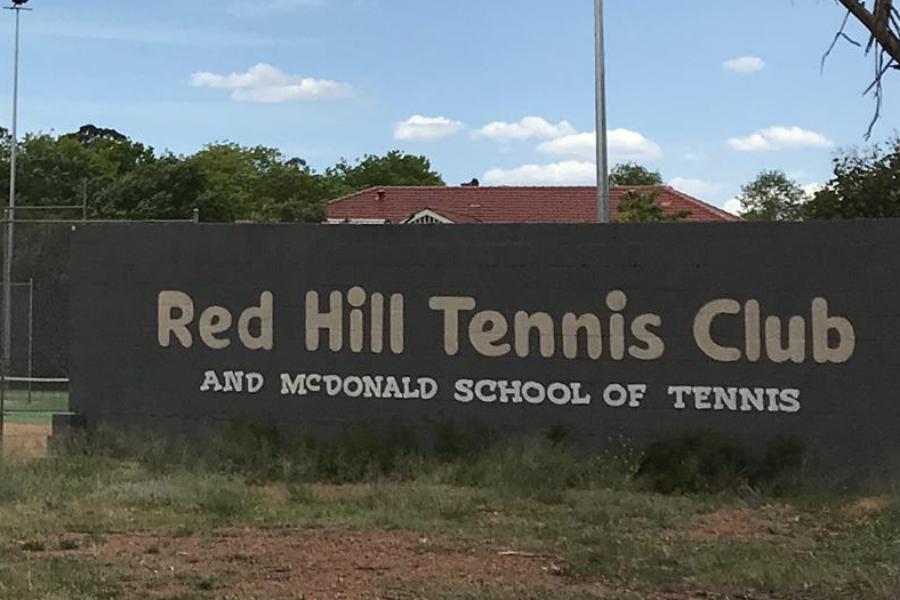 Red Hill Tennis Club Lights Banner