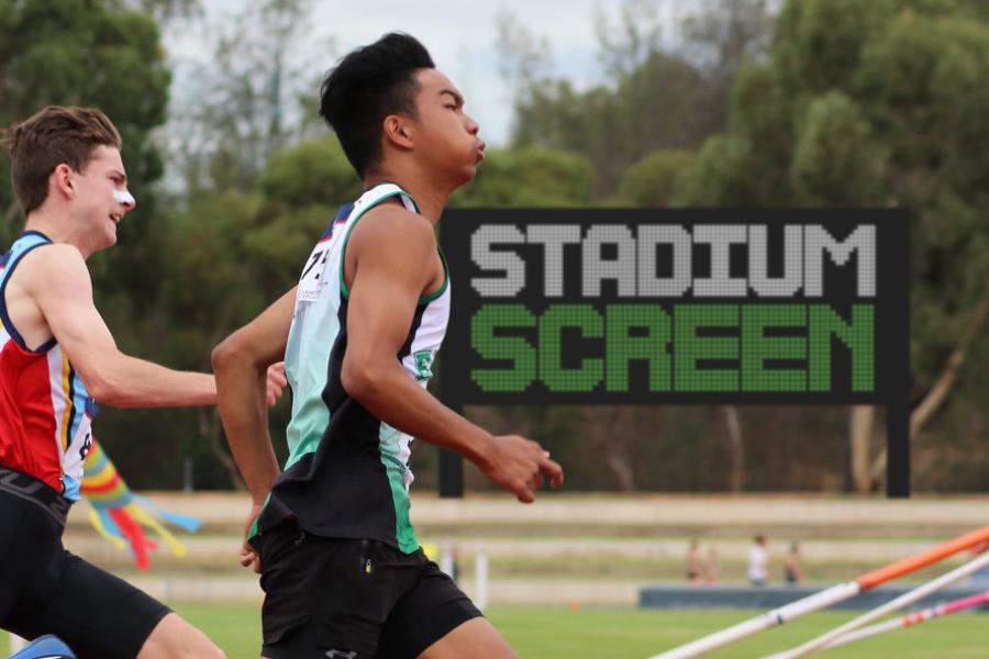 A new stadium screen for SA athletes Banner