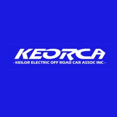 Waterproof track cover for Keilor Electric Off Road Car Association Logo