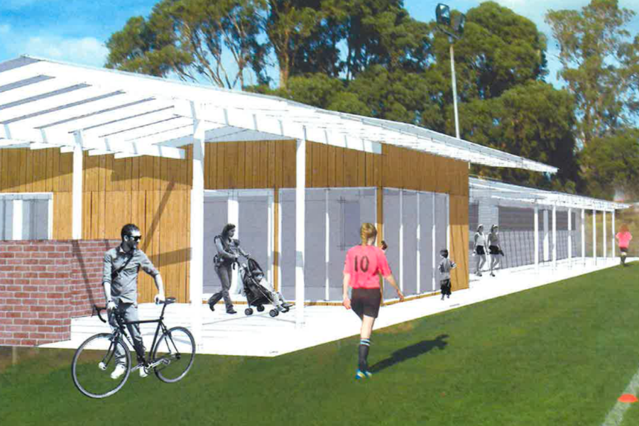 Taroona FC New Clubhouse and Change Rooms Banner