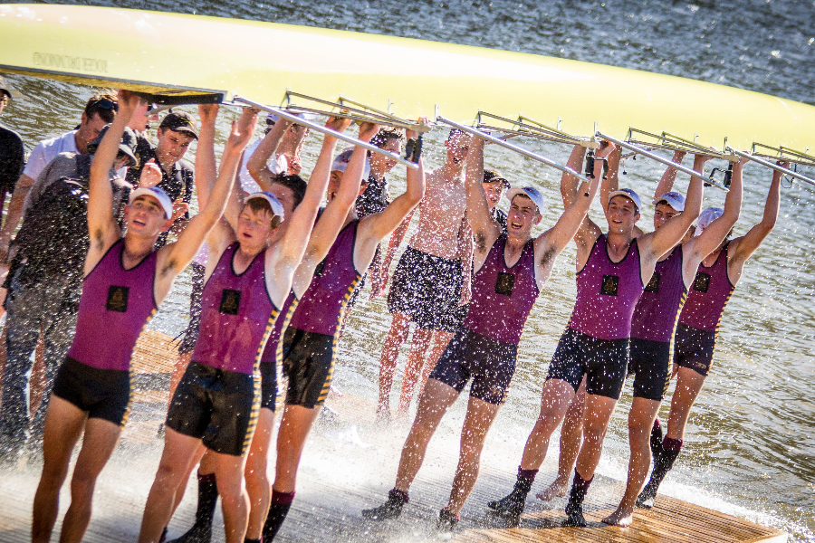 The Hutchins School Rowing Equipment Fund Banner