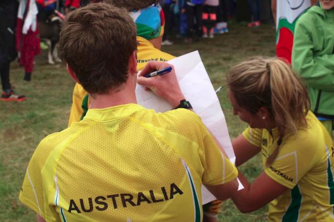 National Junior orienteering team Banner