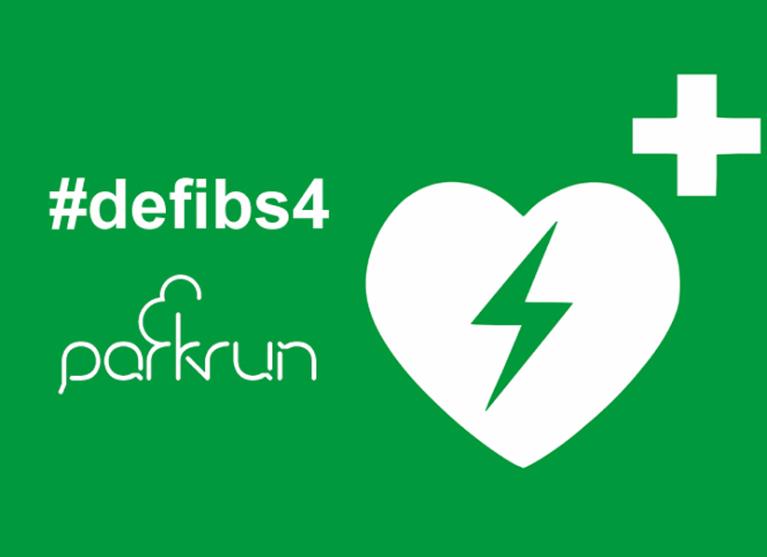 A defib 4 Coburg parkrun Logo