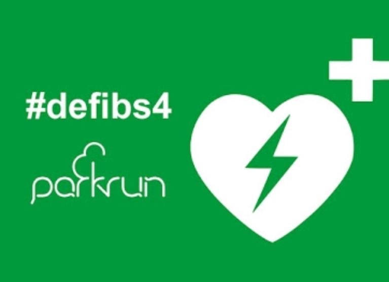 A defib 4 Kedron parkrun Logo