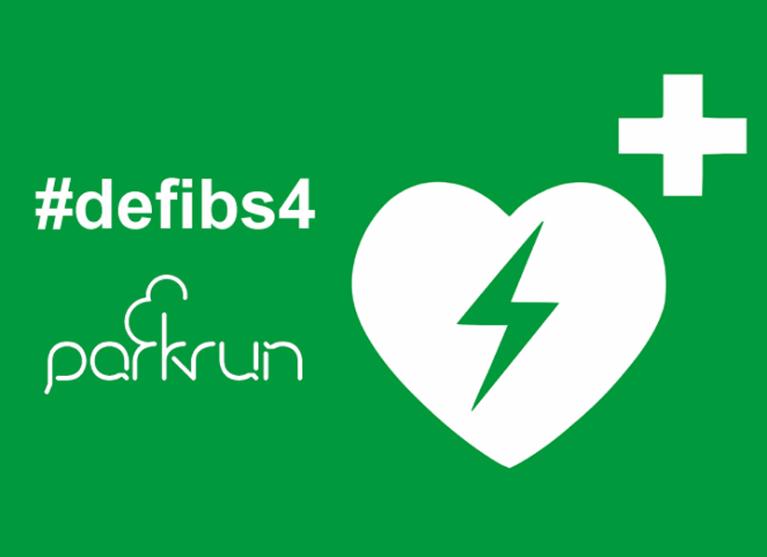 A defib 4 Warwick parkrun Logo
