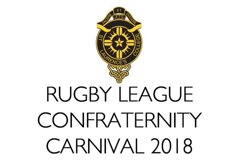 St Laurences College Rugby League Confraternity Carnival 2018 Logo