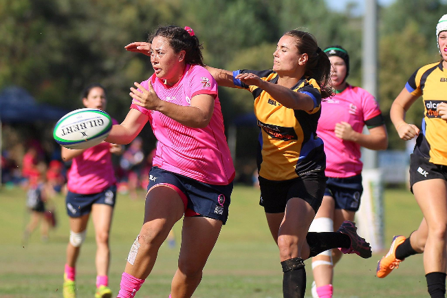 CBRE and Queensland Rugby Foundation Womens Indigenous 7s Team Banner