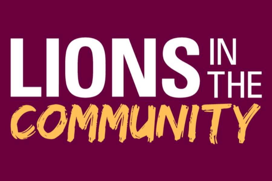 Lions in the Community Banner
