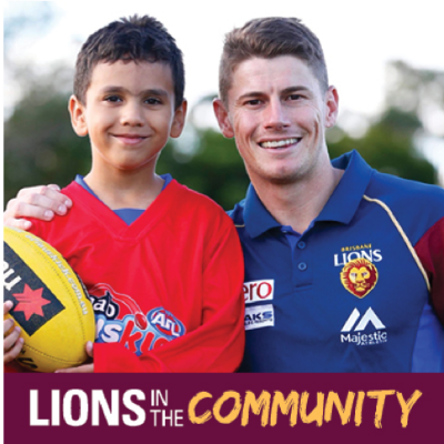 Lions in the Community Logo