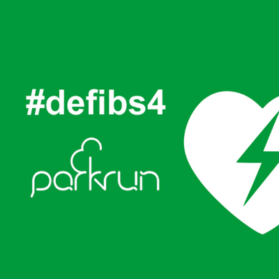 Defib for Blackbutt parkrun Logo
