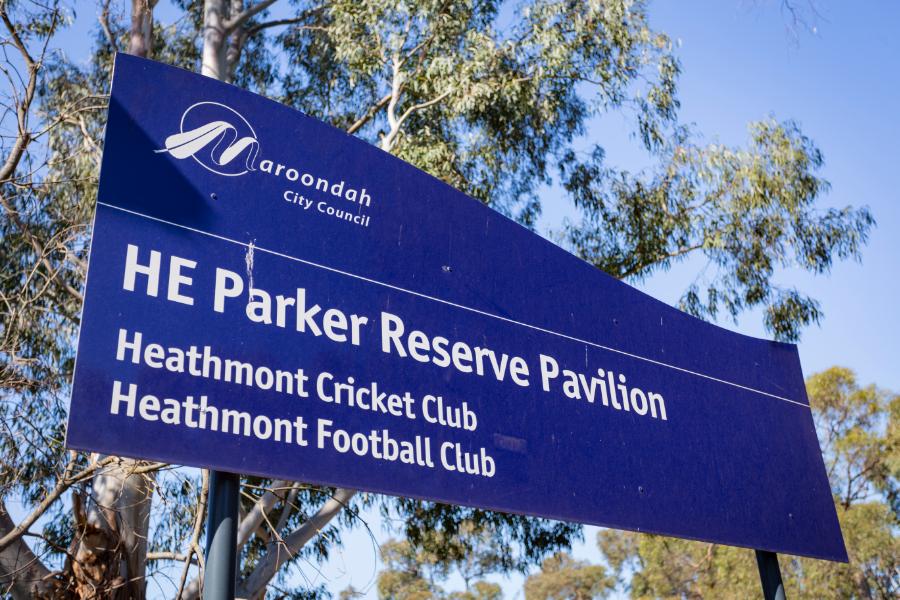 H.E Parker Reserve Pavilion Foundation Banner