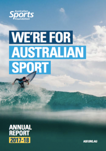 AUS Sports Fdn 2017-18 annual report