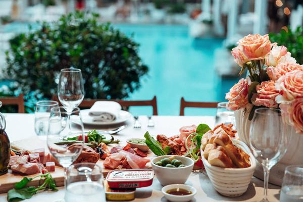 Uccello Restaurant Wedding Ceremony Pool