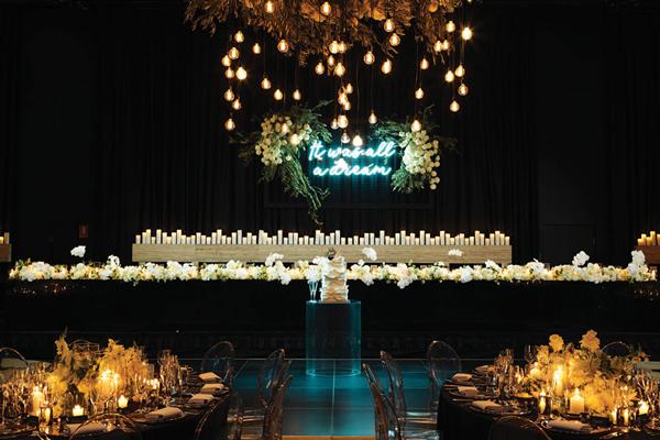 ivy ballroom wedding ceremony