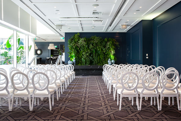 ivy Sunroom wedding ceremony
