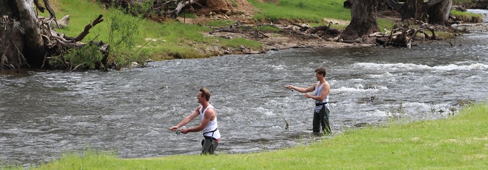 fly fishing in the Goobarragandra river surroundin gallery image