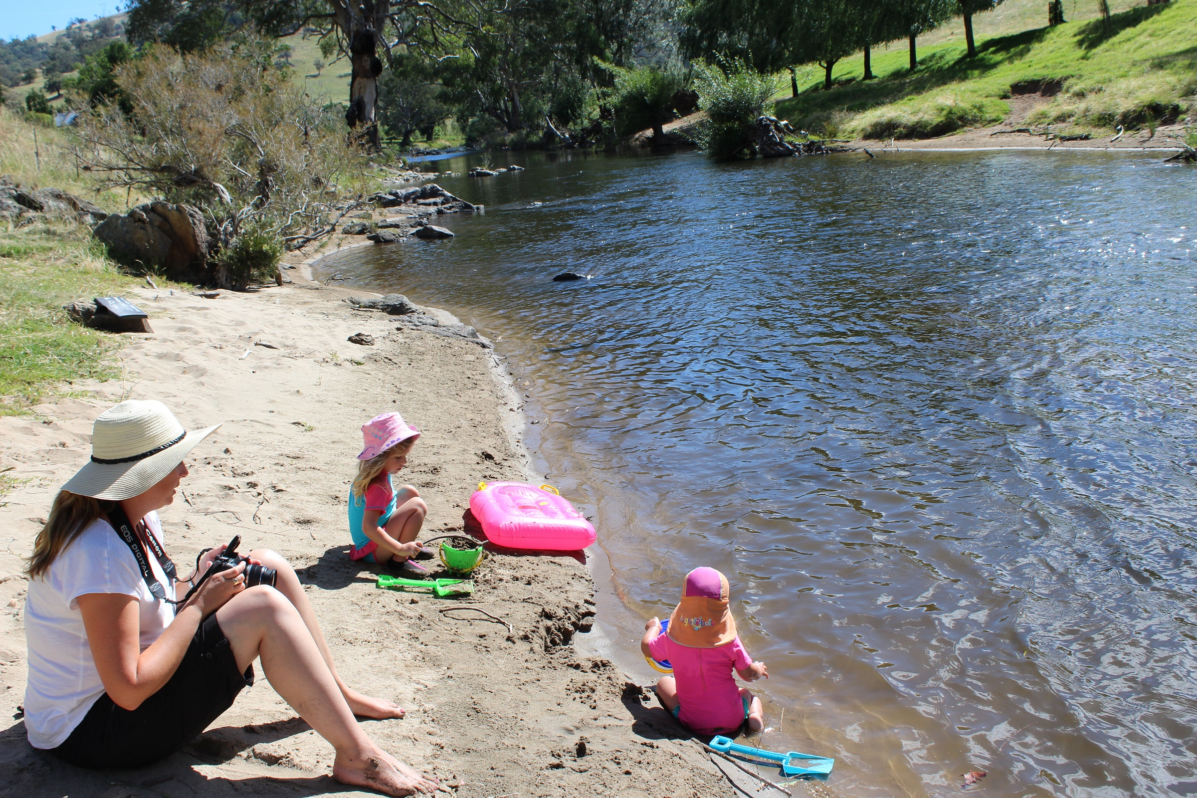 Family fun at one of our sandy river beaches gallery image