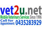 Vet2U Mobile House Call Vet - Western Sydney