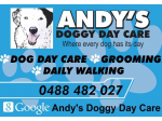 Andy's Doggy Day Care - Dog Day Care, Grooming & Training in Melbourne