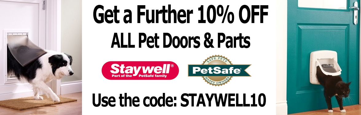 SAVE a Further 10% On ALL Pet Doors gallery image