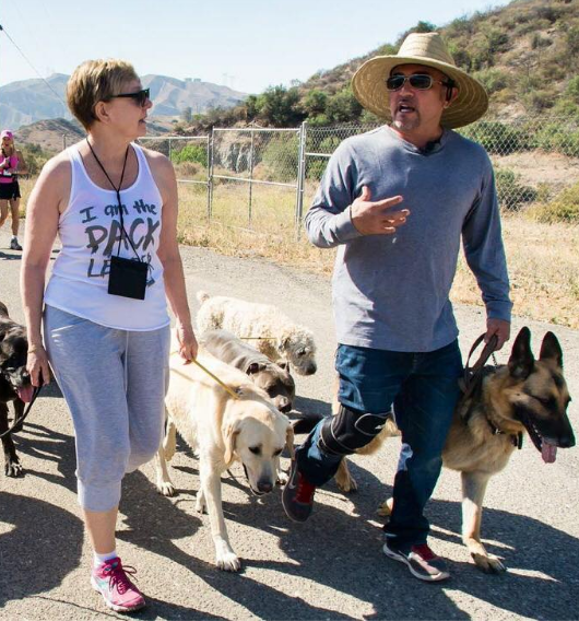 Triis + Cesar Millan at the DPC in June 2014 gallery image