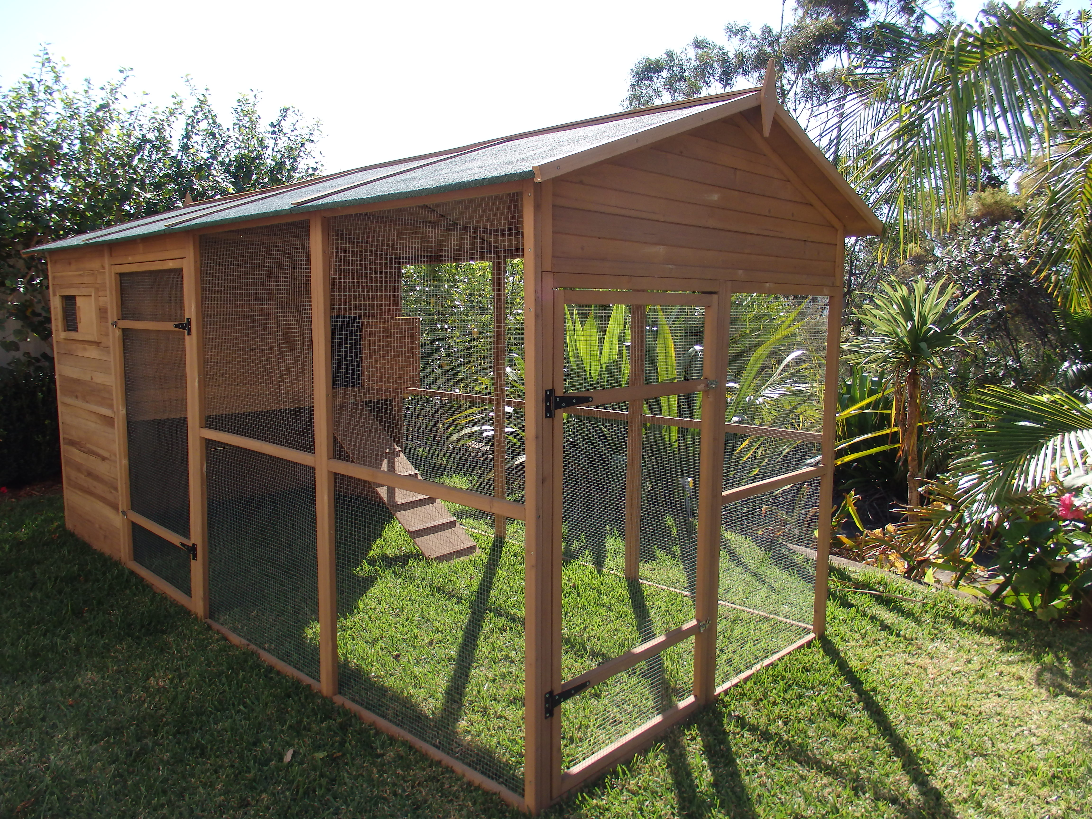 Free standing Outdoor Cat Enclosure gallery image