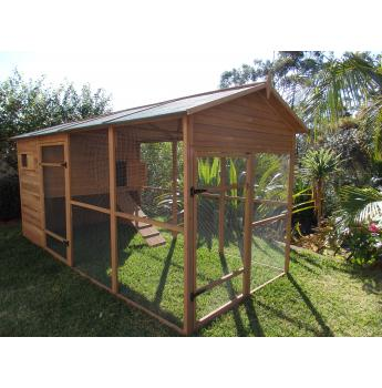 Somerzby chicken coops rabbit hutches dog crates for Outdoor guinea pig cage