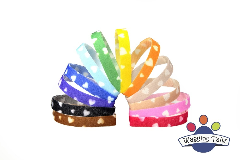Wagging Tailz ID Bands - Love Hearts Range - Suita gallery image