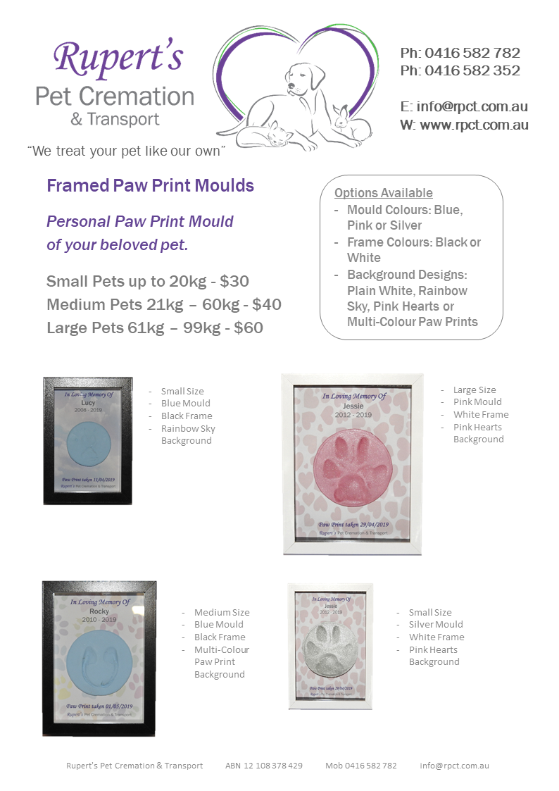 Framed Paw Print Moulds gallery image