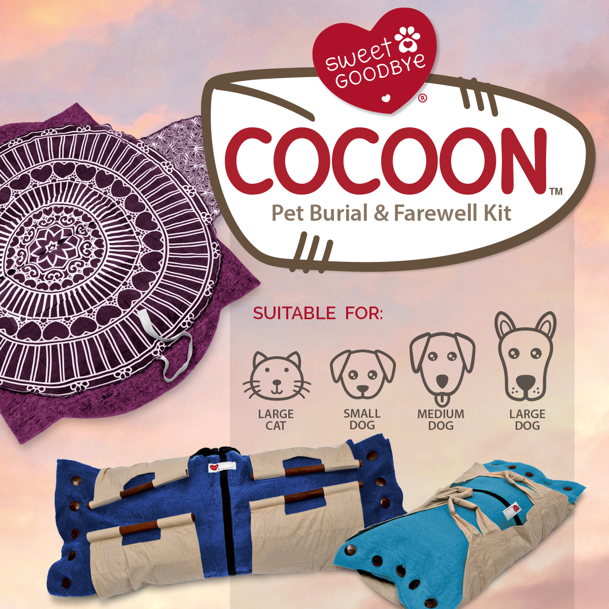 Cocoon Pet Burial and Farewell Kit - Small to Very gallery image