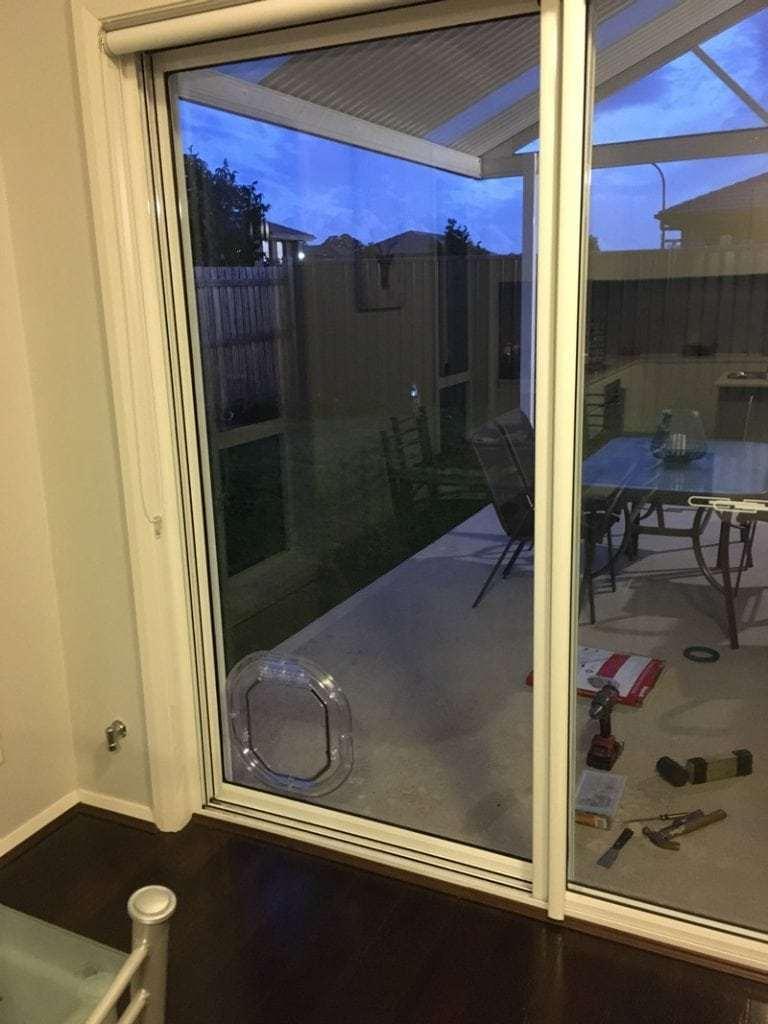 Dog door for sliding glass doors gallery image